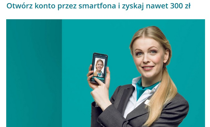 300 zł za konto osobiste w Credit Agricole za konto otwarte przez Smartfona