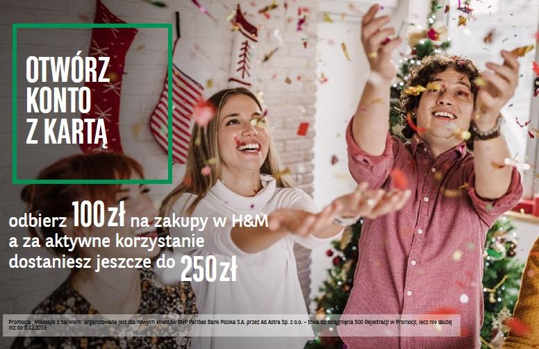 350 zł za konto osobiste w BNP Paribas na Mikołajki