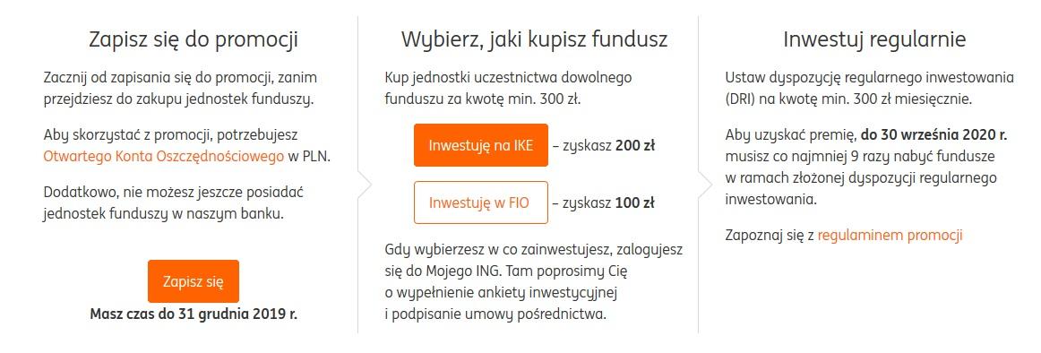 Do 200 zł za regularne inwestowanie + 140 zł za konto osobiste dla nowych w ING Banku Śląskim