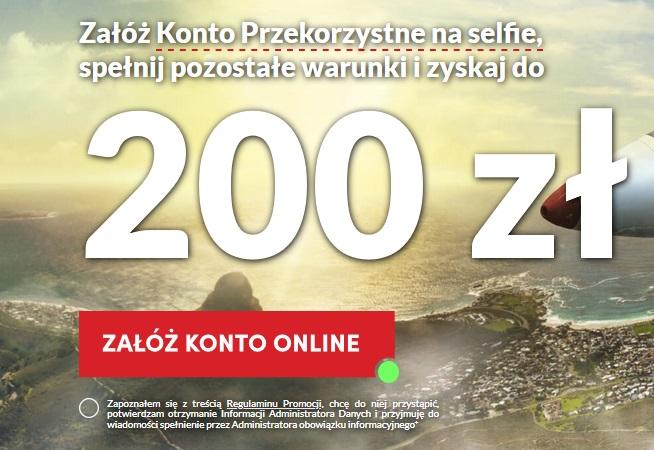 200 zł + 100 zł za konto osobiste w Banku Pekao