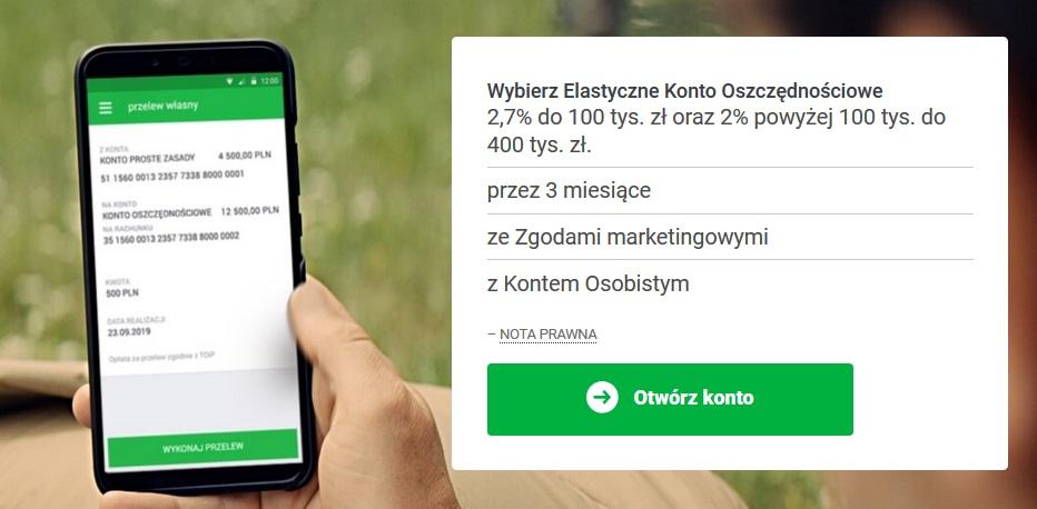Elastyczne Konto Oszczędnościowe na 2,70% do 100.000 zł w Getin Banku + 50 zł dla nowych