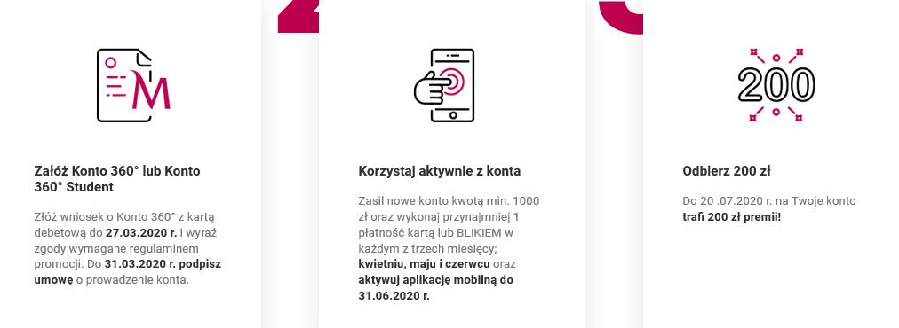 200 zł za konto i 200 zł za kartę kredytową w Banku Millennium