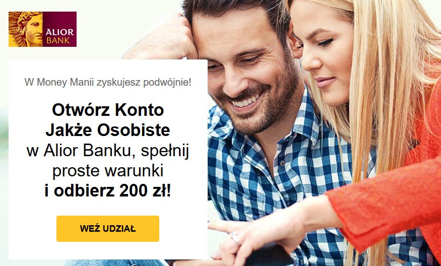 200 zł za konto osobiste w Alior Banku