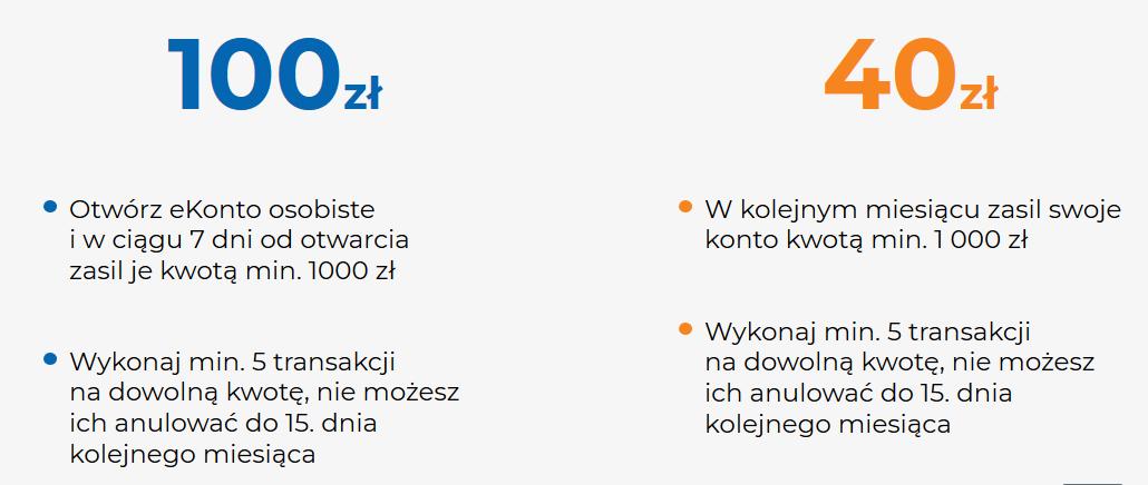 140 zł za eKonto osobiste w mBanku