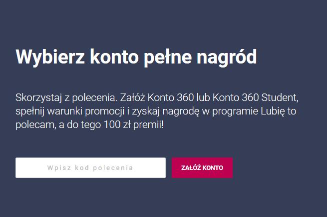 100 zł + nagrody w Programie poleceń za konto w Banku Millennium