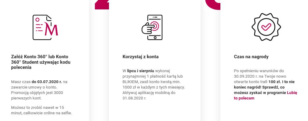 100 zł za konto plus bonusy z programu poleceń w Banku Millennium