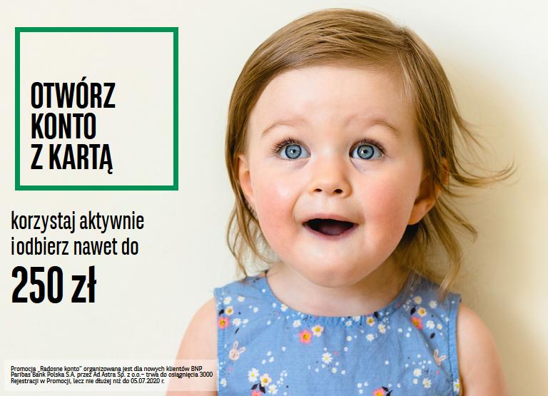 250 zł w gotówce za konto w BNP Paribas