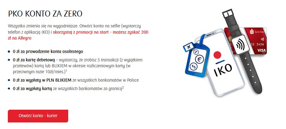 200 zł na Allegro za konto w PKO BP