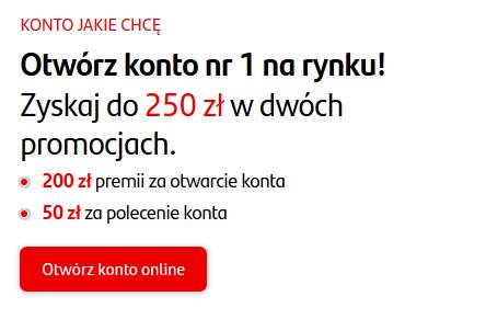 250 zł za konto w Santanderze