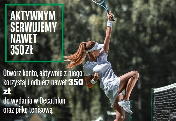 350 zł do Decathlonu za konto w BNP Paribas