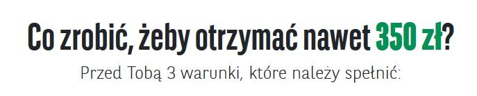 350 zł za konto w BNP Paribas w tym 50 zł do Biedronki