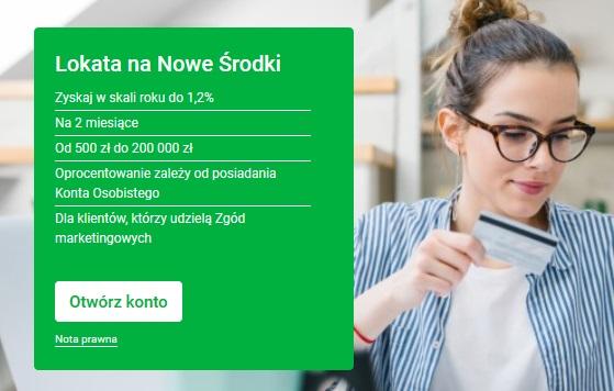 Lokata na Nowe Środki w Getin Banku