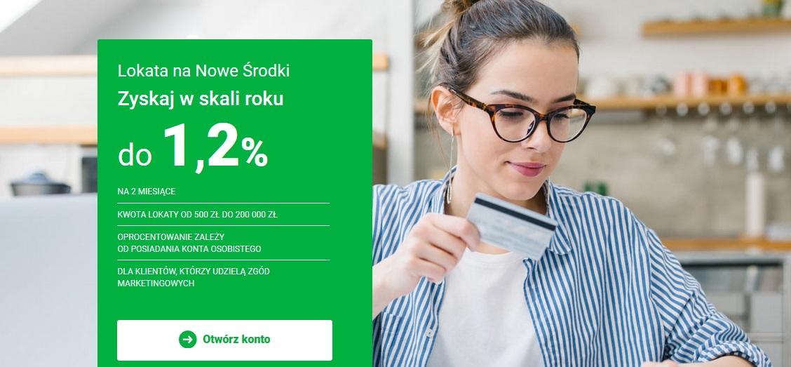 Lokata na Nowe Środki na 1,20% w Getin Banku