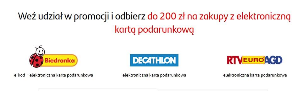 150 zł na zakupy za konto w Santanderze + 50 zł za konto dla dziecka + 50 za polecenie
