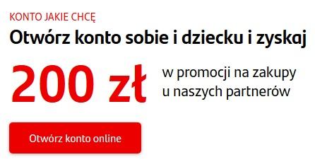 150 zł na zakupy za konto w Santanderze + 50 zł z polecenia + 50 zł za konto dla dziecka