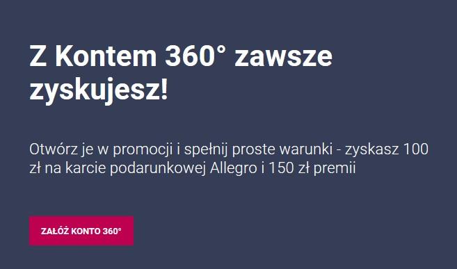 250 zł za kont w Banku Millennium