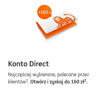 160 zł za konto w ING Banku Śląskim + 100 zł za inwestowanie
