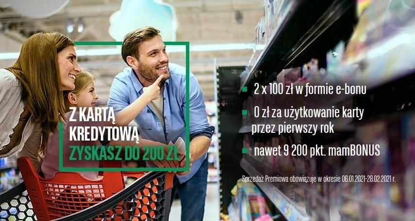 200 zl do Carrefoura za kartę kredytową BNP Paribas