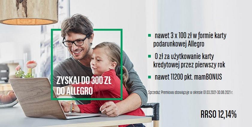 300 zł na Allegro za kartę kredytową w BNP Paribas
