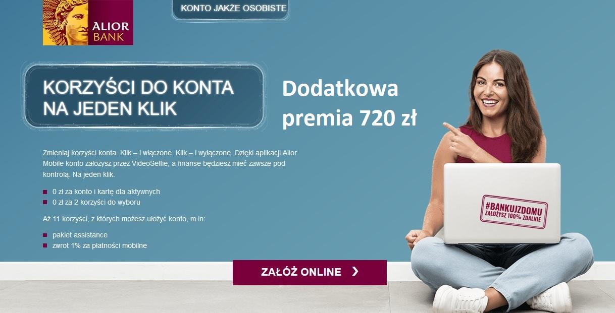 720 zł za konto w Alior Banku