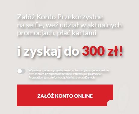 350 zł do Biedronki za konto w BNP Paribas