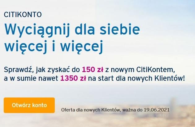 150 zł za konto w Citibanku