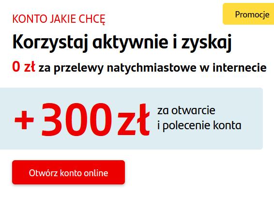 300 zł za konto w Santanderze