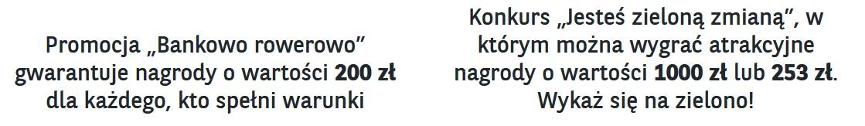 200 zł za konto w BNP Paribas i szansa na rower czy sakwy