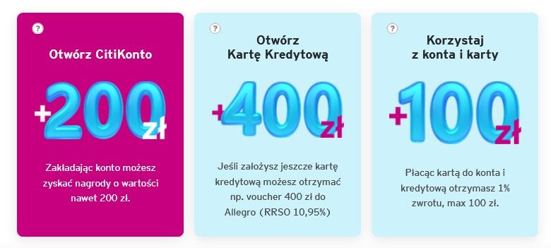 200 zł za konto w Citibanku
