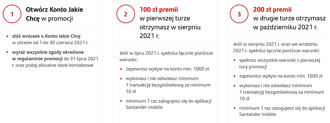 350 zł za konto w Santanderze