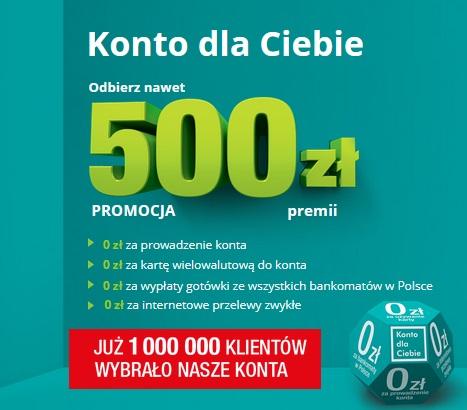 500 zł za konto w Credit Agricole