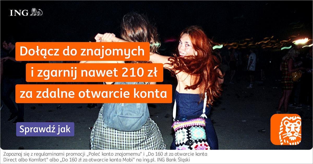 Do 210 zł za konto w ING Banku Śląskim